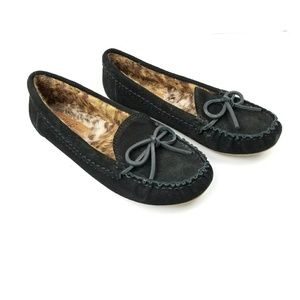 Lucky Brand Aligabe Mocassins Flat Leather Faux Fu